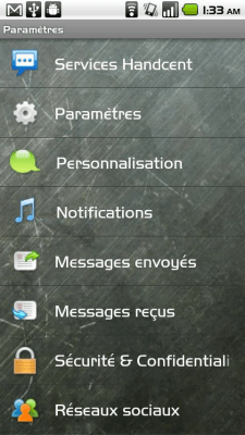 Handcent SMS French Language P 7.6