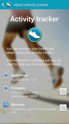 Samsung Activity Tracker 1.45