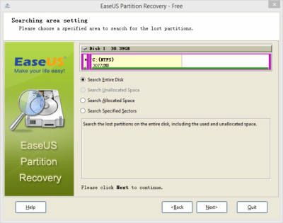 EaseUS Partition Recovery Wizard 8.5