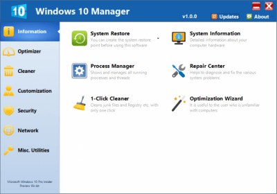 Windows 10 Manager 2.0.8