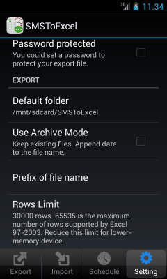 SMSToExcel Backup SMS in Excel 1.2.12