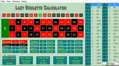 Lazy Roulette Calculator 1.0
