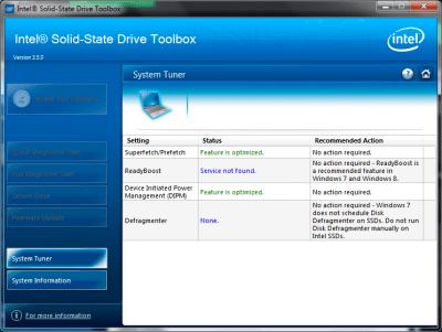 Intel Solid-State Drive Toolbox 3.5.4