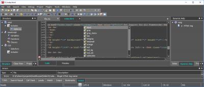 CodeLobster IDE для Linux 0.2