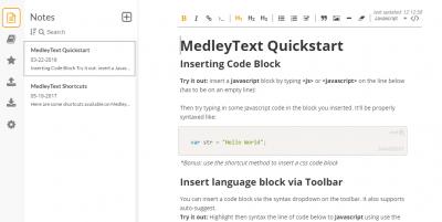 MedleyText 1.2.1