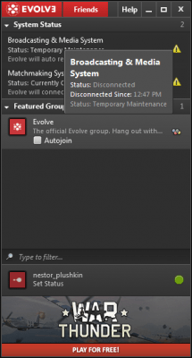 Evolve 1.8.18