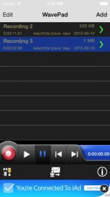WavePad Audio Editor Free 6.42