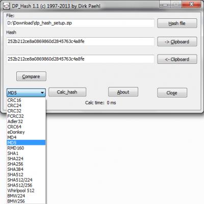 DP Hash 1.1