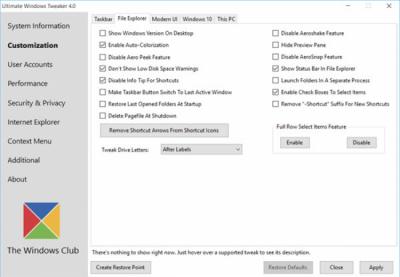 Ultimate Windows Tweaker 4.4.1