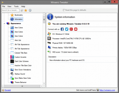 Winaero Tweaker 0.11.2