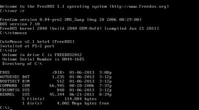 FreeDOS 1.2