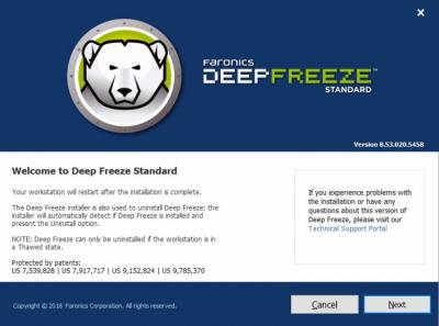 Deep Freeze Standard 8.53.020.5458
