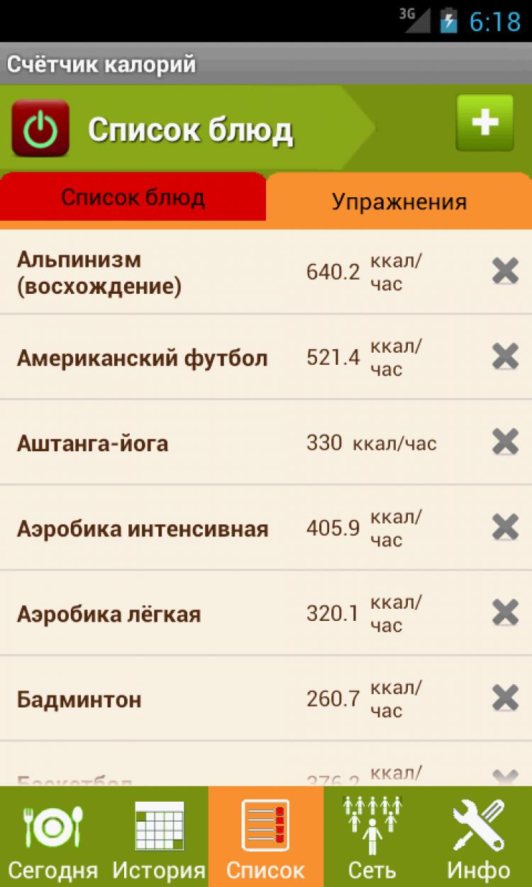 f8301233fa06 Скачать Калькулятор калорий 3.2.8 для Android бесплатно