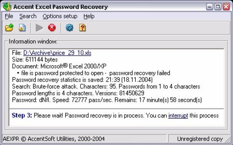 torrent excel password
