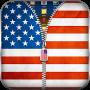 Скачать US Flag Zipper Lock