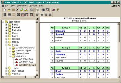 Спортивные таблицы 2.2