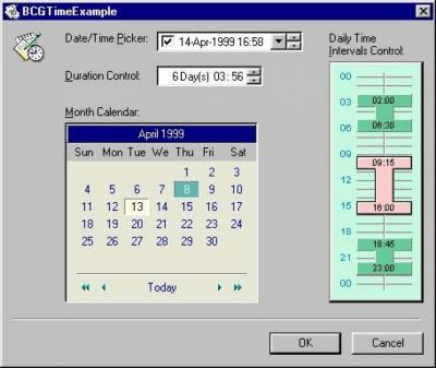 BCGDateTime Controls