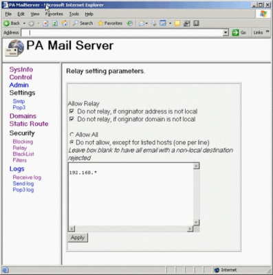 PA MAIL SERVER 3.11