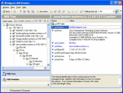 WinAgents MIB Browser v1.0