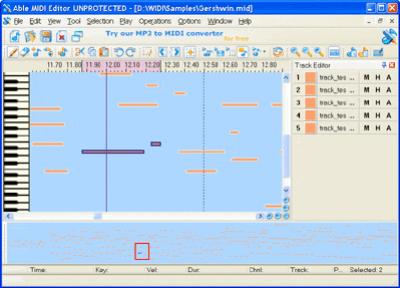 Able MIDI Editor v1.3