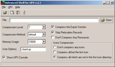 Advanced UPX shell v.2.0