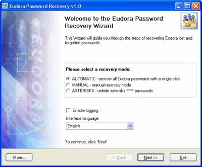 Eudora Password Recovery 1.4.1