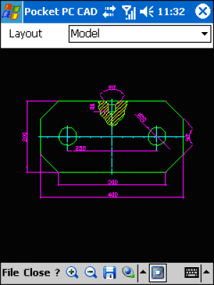 Pocket PC CAD Viewer: DWG, DXF, PLT 1.52