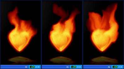 Fire Heart Desktop Gadget