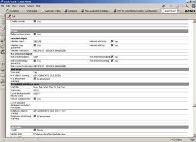 Protea AntiVirus Tools, VirusBuster version 2.06