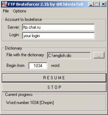 FTP Bruteforcer 2.1b