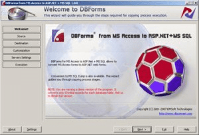 DBForms from MS Access to ASP.NET+MS SQL 1.0.0