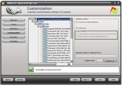 DBSync for SQLite and MSSQL 1.0.0