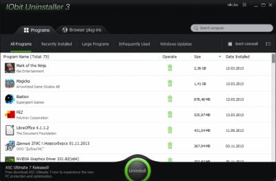 IObit Uninstaller 8.1.0