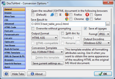 Doc To HTML Converter 3.30