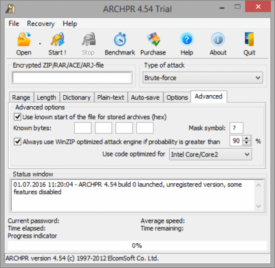 Advanced Archive Password Recovery 4.54.101
