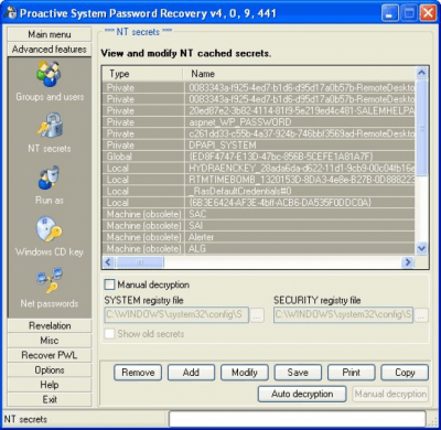 Proactive System Password Recovery 6.52.462