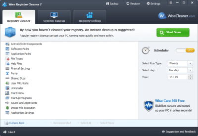 Wise Registry Cleaner 9.6.5