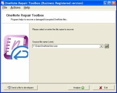OneNote Repair Toolbox 2.1