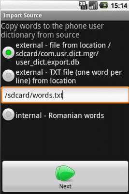 User Dictionary Manager (UDM)