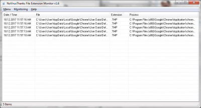 File Extension Monitor 1.6