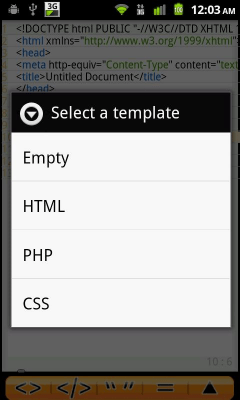 Android Web Editor Lite 0.11055