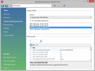 OpenGL Extensions Viewer 5.1.4 Build 52.0.0.0