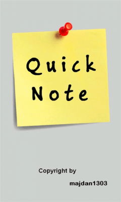 Quick Note 1.0.0.0