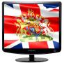 Скачать Заставка (скринсейвер) в виде флага Великобритании с гербом