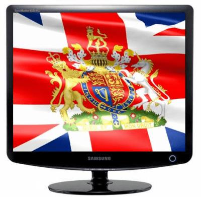 Заставка (скринсейвер) в виде флага Великобритании с гербом 2.1