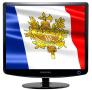 Скачать Заставка (скринсейвер) в виде флага Франции с гербом