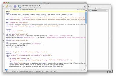 TextWrangler 5.5.2 Build 397016