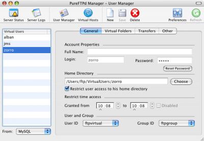 PureFTPd Manager 1.8