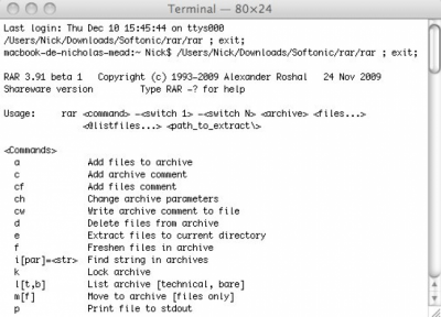 RAR (WinRAR for Mac) 5.20