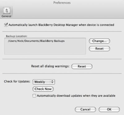 BlackBerry Desktop Manager 2.4.0.18